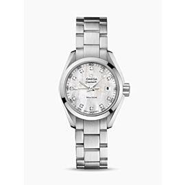 Ladies' Omega Aqua Terra 231.10.30.60.55.001 Steel MOP Diamond 30MM Quartz Watch