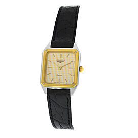 New Ladies Longines XL18 Yellow Gold Stainless Steel Quartz 20mm Watch