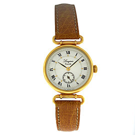 New Ladies Longines Charleston 5226 Gold Plaque Steel Quartz 25mm Watch