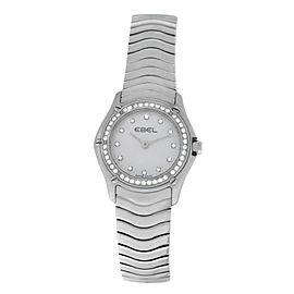 New Ladies' Ebel 9003F14 Quartz Steel MOP Diamond 24MM $4,495 Watch