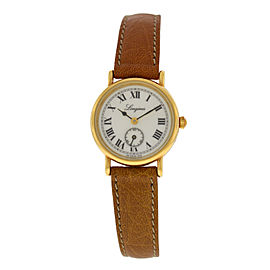 New Ladies' Longines Charleston 5231 Gold Plaque Steel Quartz 23mm Watch