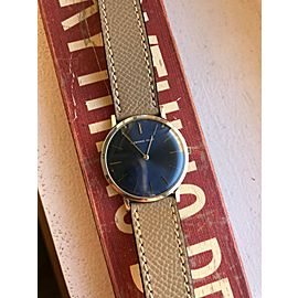 AUDEMARS PIGUET Vintage 18K White Gold Blue Dial Hand Winding Men's Watch
