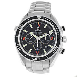 Mens Omega Seamaster Planet Ocean 2210.51 Steel Chrono Automatic Watch