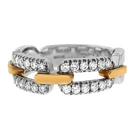 New Damiani Model: 20019383 18K Rose & White Gold Size 7.25 Diamond $7,300 Ring