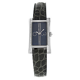Ladies Cuervo y Sobrinos Amapola A2032 Steel Diamond Quartz 19MM Watch