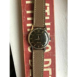 Vintage Wittnauer Steel Automatic w/ Black Gilt Light Tropical Dial Watch