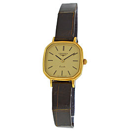 New Ladies' Longines Octagon 18K Solid Yellow Gold Quartz 21mm Watch