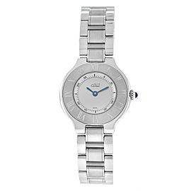 Ladies Cartier Must de Cartier 1340 Quartz Stainless Steel 28MM Watch PAPERS