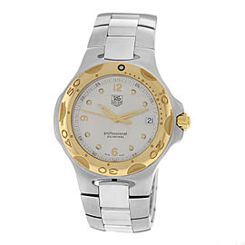 Men's Tag Heuer Kirium WL1150 Steel Gold Bezek Date 37MM Quartz Watch