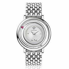 New Ladies' Versace Venus VFH010013 Steel Genuine Topaz Quartz 39MM Watch