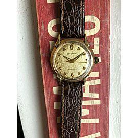 Vintage Bulova gold capped handwind textured dial watch