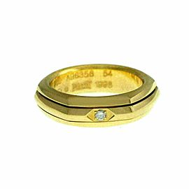 New Piaget Possession Diamond 18K Yellow Gold 12 grams Size 54 7 Rotating Ring