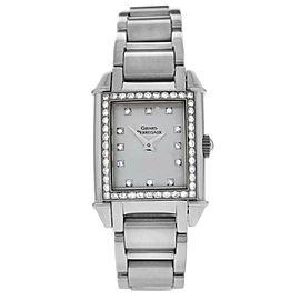 Ladies Girard Perregaux Vintage 2592 Steel Diamond Quartz 23MM Watch