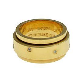 New Piaget Possession 18K Gold 18 grams Diamond Size 55 7.25 Rotating Ring