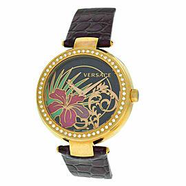 New Versace Mystique Hibiscus I9Q81D9HI S702 Diamond Quartz 38MM Watch