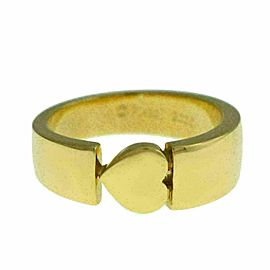 New Piaget 18K Yellow Gold 9 grams Size 53 6.5 Heart Ring