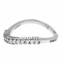 New Ladies Damiani Model: 20016526 18K White Gold Size 7.25 Diamond $2,130 Ring