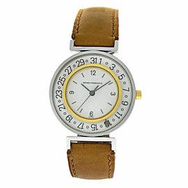 Unisex Girard Perregaux Integrale Steel Gold 32MM Date Quartz See Through Watch