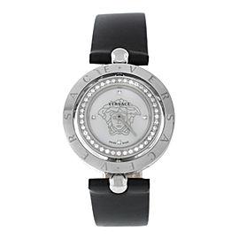 Versace EON 79Q91SD497 S009 Steel Diamond Quartz 33MM MOP Watch