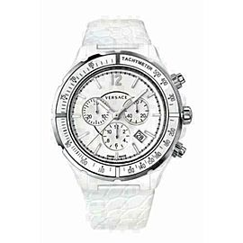 New Versace DV One 28CCS1D001 S001 Steel Ceramic Chrono 43MM Quartz Watch