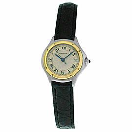 Ladies' Cartier Panthere Cougar 1190 18K Yellow Gold Steel Quartz 26MM Watch