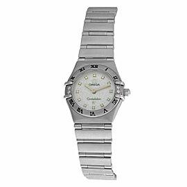 Ladies Omega Constellation 1567.75 Steel MOP Diamond Quartz 22MM Watch