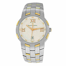 New Men Maurice Lacroix Milestone MS1017-PS103-110 Steel Gold $2500 Quartz Watch