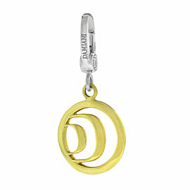 New Damiani Model: 20031632 18K Yellow White Gold $1,188 Logo Pendant