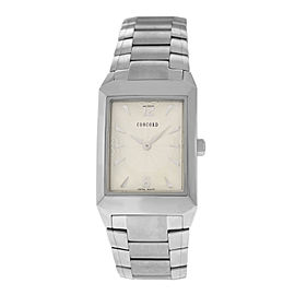 New Men's Concord Carlton 14.E6.1450.1 Steel 37MM x 27MM Quartz $1,750 Watch