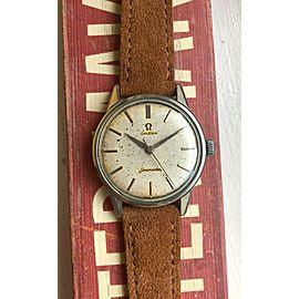 Vintage Omega Seamaster Manual Wind Alpha Hands Patina Dial Watch