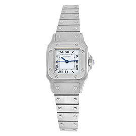 Ladies Cartier Santos Galbee Automatic 24MM Steel Watch