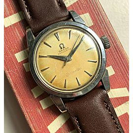 Vintage Omega Seamaster Automatic Cream Patina Dial Steel Case 60s Watch