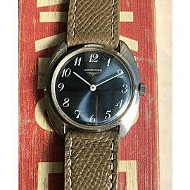 Vintage Longines Manual Wind Blue Sunburst Dial Breguet Numerals Watch