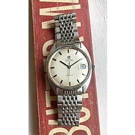 Vintage Omega De Ville Automatic C-Case Silver Dial w/ Original Bracelet Watch