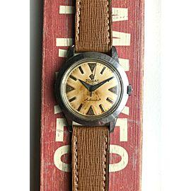Vintage Zodiac Sea Skate Automatic Diver Patina Dial 50s Steel Case Watch