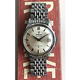 Vintage Omega Constellation Automatic Silver Crosshair Dial w/BOR Bracelet Watch