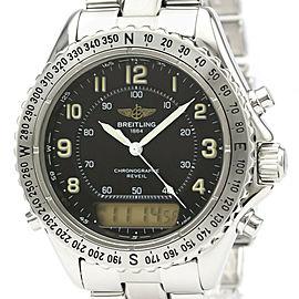 Polished BREITLING Steel Intruder Reveil Watch HK-2078