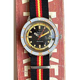 Vintage Zodiac Seawolf Automatic Diver Patina Dial Grey Bakelite Bezel Watch