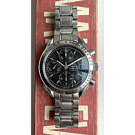 Omega Speedmaster Quickset Date Automatic Chronograph Black Dial Steel Watch
