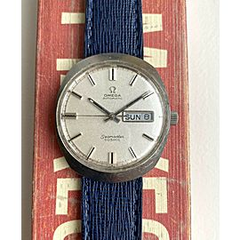 Vintage Omega Seamaster Cosmic Automatic Silver Textur Dial Daydate Steel Watch