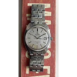 Vintage Omega Constellation Automatic Linen Dial C-Case w/ Bracelet Watch