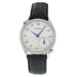 Tourneau Dual Zone 35002-A Unisex Stainless Steel 37MM Quartz Watch