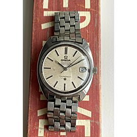 Vintage Omega Constellation Chronometer Automatic Silver Dial C-Case Watch