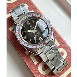 Vintage Zodiac Sea Wolf Automatic Brown Tropical Dial Diver Bakelite Watch