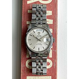 Vintage Tudor Oyster Dateday Automatic Silver Dial 94710 Quickset Steel Watch