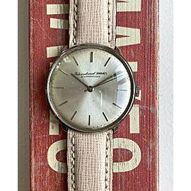 Vintage IWC Manual Wind Silver Sunburst Dial Steel Case 60s Watch