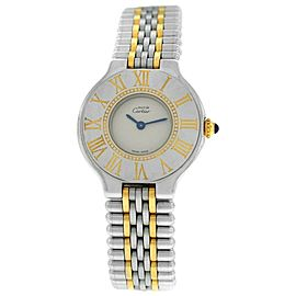 Ladies Cartier Must de Cartier Bullet Quartz Steel Gold 28MM Watch