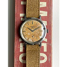 Vintage Longines Automatic Tropical Dial Sub Seconds Steel Case Watch
