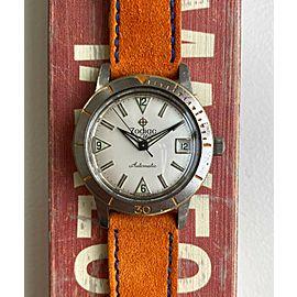 Vintage Zodiac Sea Wolf Diver Automatic White Dial Steel Bezel Steel Case Watch