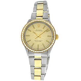 Rolex Oyster Perpetual 1002 Unisex 1.05 Carat Diamond Bezel Gold Auto 34MM Watch